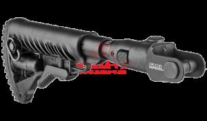 Приклад телескопический, складной FAB-Defense M4-AKMS P SB с компенсатором отдачи