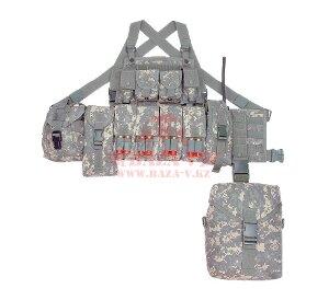 Разгрузочный тактический жилет с подсумками J-Tech® M.C.V.S. Tactical Vest-A (WOODLAND DIGITAL)
