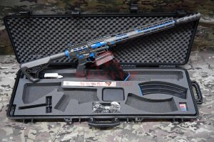 """Ружье для спортивной стрельбы Tigris XR12 Pro, 12 калибр, ствол 16"""" в кейсе (Tungsten/Blue)"""