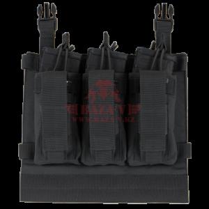 Платформа с подсумками под 3 магазина М4 и 3 пистолетных магазина на Velcro Condor 221126: VAS Kangaroo Mag Panel (Black)