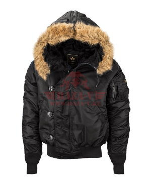 Куртка-бомбер Alpha Industries N-2B (Black)