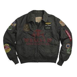 Куртка-бомбер Alpha Industries CWU Pilot Jacket (Sage Black)