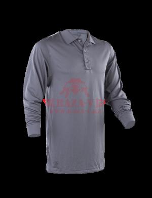 Мужское Поло с длинным рукавом TRU-SPEC Men's 24-7 SERIES® Performance Polo Shirt 100% Jersey Knit Polyester (Steel Grey)