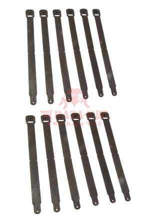 Клипсы HSGI® Clip-Long для крепления MOLLE 12 шт/уп (Black)