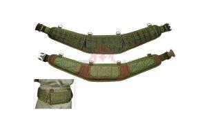 Разгрузочный тактический пояс с D-кольцами J-Tech® General MOLLE Belt Pad-C (версия антискольжение) (Olive drab)