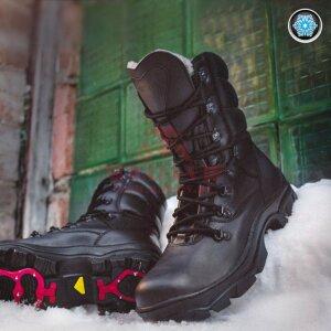 Зимние ботинки с противоскользящей подошвой Garsing 62 AntiSlip (Black)