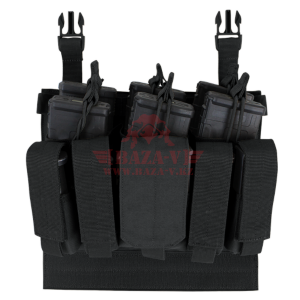 Платформа с подсумками под 6 магазинов М4 и 6 пистолетных магазинов на Velcro Condor 221141: VAS Recon Mag Pouch (Black)