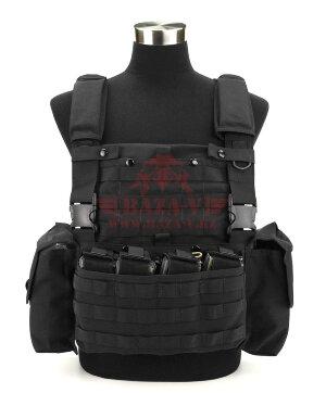 Разгрузочный жилет J-Tech® CP-6 Combat Chest Rig с возможностью установки бронеплит (Black)