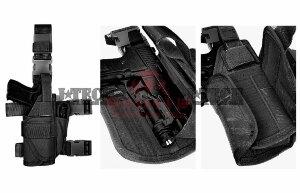 Набедренная кобура, универсальная J-Tech® Patriot-II, правша (TA03-0107-01 Black)