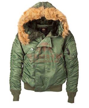 Куртка-бомбер Alpha Industries N-2B (Sage Green)