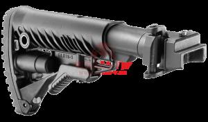 Приклад телескопический, складной FAB-Defense M4-AK для АКМ-47