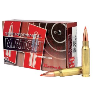 Патрон Hornady Superformance Match .308 Win A-MAX SPF, 168gr / 10.9г (80964)