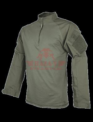 Тактическая рубашка TRU-SPEC TRU® 1/4 Zip Combat Shirt (Однотонные) 65/35 PC Ripstop (Ranger Green)