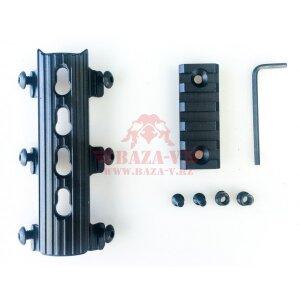 Вставка VS-24.1 с планкой Пикатинни Вежливый Стрелок для трубчатых цевий АК/Сайга/Вепрь, VS-24, VS-24U, VS-29K
