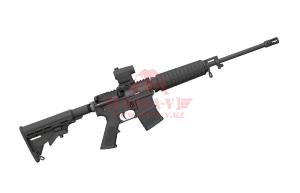 """Нарезной карабин Bushmaster XM-15 QRC с коллиматорным прицелом Mini Red Dot .223Rem, 16"""" (Black) (91046)"""