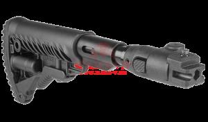 Приклад телескопический, складной FAB-Defense M4-AK P SB с компенсатором отдачи для АК