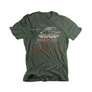 Футболка Alpha Industries M4A2 SHERMAN VC FIREFLY (Grey/Olive Ink)
