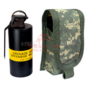 Подсумок средний для световой гранаты J-Tech® C.A.V. Single Flash Grenade Pouch (Medium) / NBS (Black)