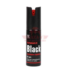 Газовый (перцовый) баллончик Техкрим Black, аэрозольно-струйный, 25мл