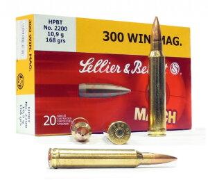 Патрон Sellier & Bellot .300 Win Mag HPBT 10.9г