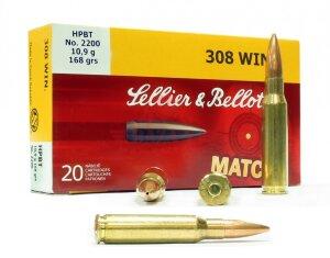 Патрон Sellier & Bellot .308 Win HPBT 11.7г