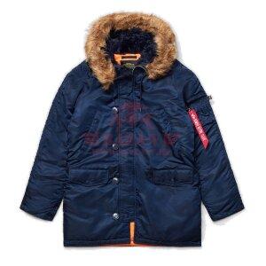 Куртка-парка Alpha Industries SLIM FIT N-3B (Replica Blue/Orange)