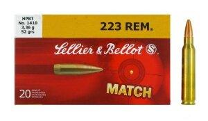 Патрон нарезной охотничий Sellier & Bellot .223 Rem пуля HPBT, 3.36г