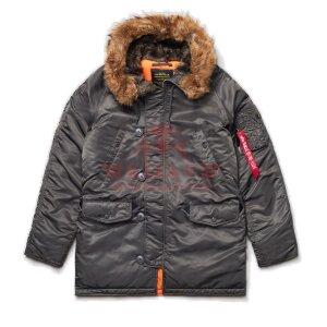 Куртка-парка Alpha Industries SLIM FIT N-3B (Replica Grey/Orange)