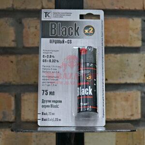 Газовый (перцовый) баллончик Техкрим Black, аэрозольно-струйный, 75мл