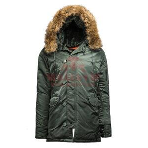 Куртка-парка Alpha Industries SLIM FIT N-3B (Sage/Orange)